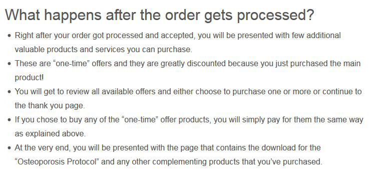 What happens after Osteoporosis Protocol order gets processed